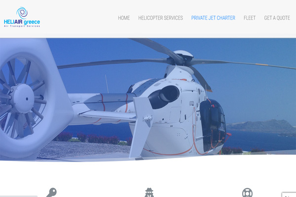 Heli Air Greece Helicopter Website